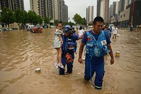25 killed by central China flooding in worst rains since records began |  The Times of Israel